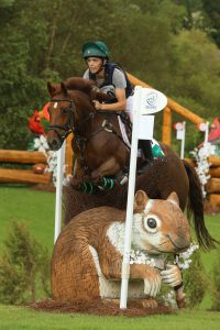 Rider going over a custom jump