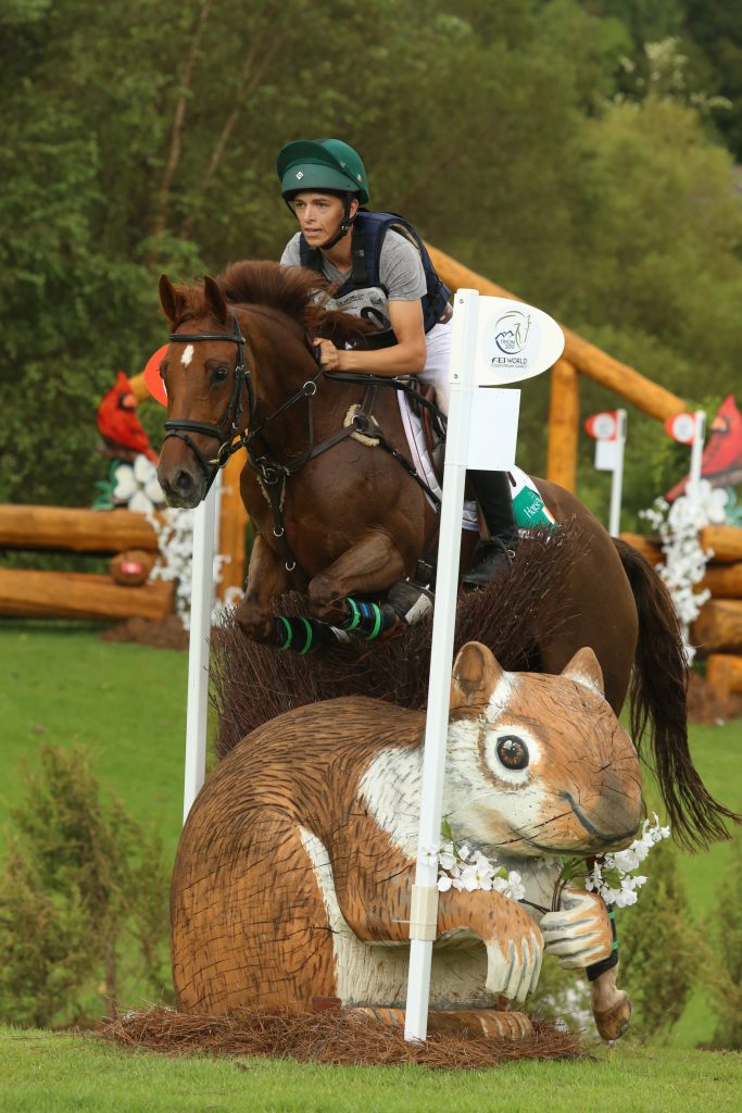 Rider going over a custom jump